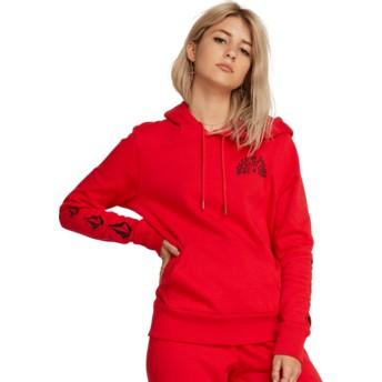 Volcom Red Vol Stone Red Hoodie Sweatshirt