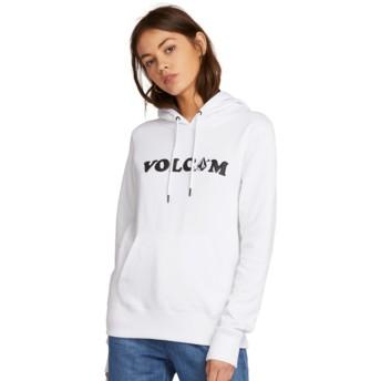 Volcom White Vol Stone White Hoodie Sweatshirt