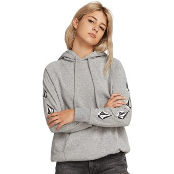 Volcom Heather Grey Deadly Stones Grey Hoodie Sweatshirt