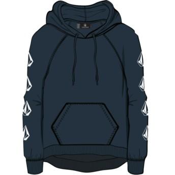Volcom Sea Navy Deadly Stones Navy Blue Hoodie Sweatshirt