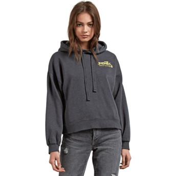 Volcom Black Knew Wave Black Hoodie Sweatshirt