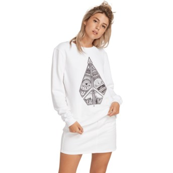 Volcom White Sound Check White Sweatshirt