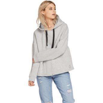 Volcom Light Grey Time's 4 Grey Hoodie Sweatshirt