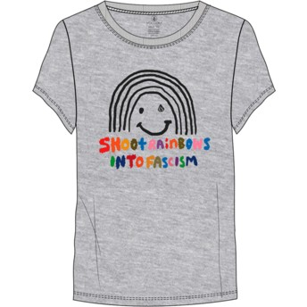 Volcom Rainbow Heather Grey Easy Babe Rad 2 Grey T-Shirt