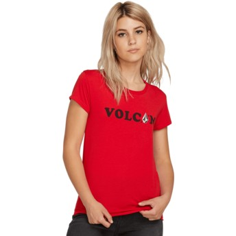 Volcom Red Easy Babe Rad 2 Red T-Shirt