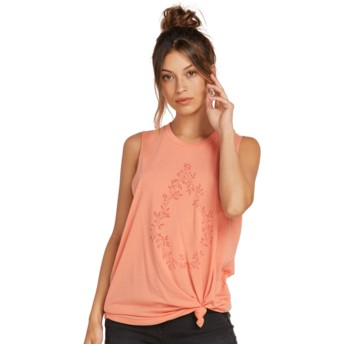 Volcom Terra Cotta Breaknot Pink Sleeveless T-Shirt