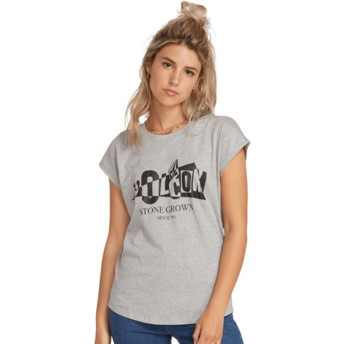 Volcom Heather Grey Dare Shirt Grey T-Shirt