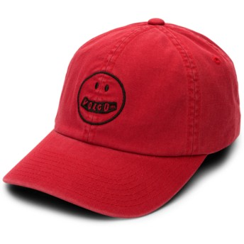 Volcom Curved Brim Chili Red Good Mood Red Adjustable Cap