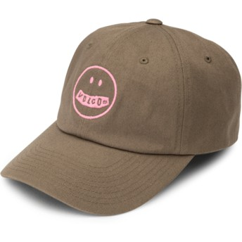 Volcom Curved Brim Army Green Combo That Was Fun Green Adjustable Cap