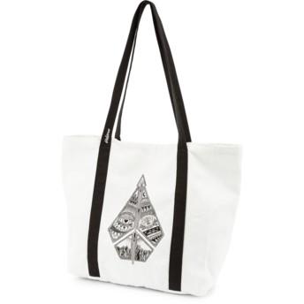 Volcom Black Stone Tote White Handbag