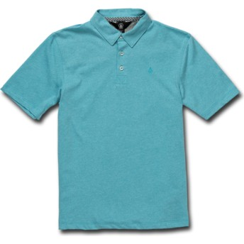 Volcom Youth Cyan Blue Wowzer Blue Polo