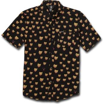 Volcom Youth Black Ozzie Cat Black Short Sleeve Shirt