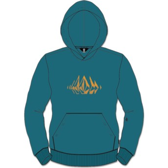 Volcom Youth Teal Supply Stone Green Hoodie Sweatshirt