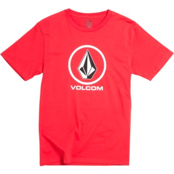 Volcom Youth Division True Red Crisp Stone Red T-Shirt
