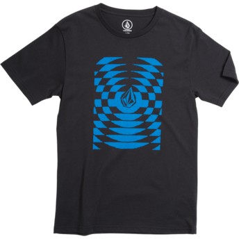 Volcom Youth Division Black Check Wreck Black T-Shirt