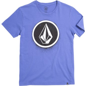 Volcom Youth Dark Purple Spray Stone Purple T-Shirt