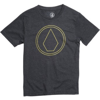Volcom Youth Heather Black Pin Stone Black T-Shirt