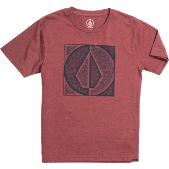 Volcom Youth Crimson Stamp Divide Red T-Shirt