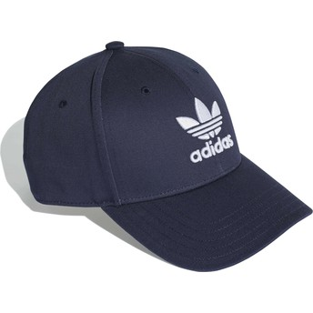 Adidas Curved Brim Trefoil Baseball Navy Blue Adjustable Cap