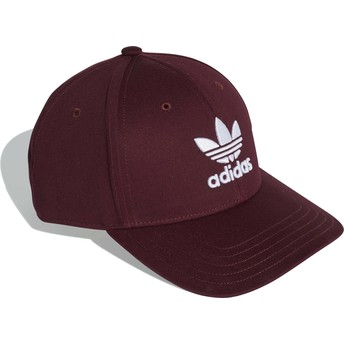 Adidas Curved Brim Trefoil Baseball Maroon Adjustable Cap