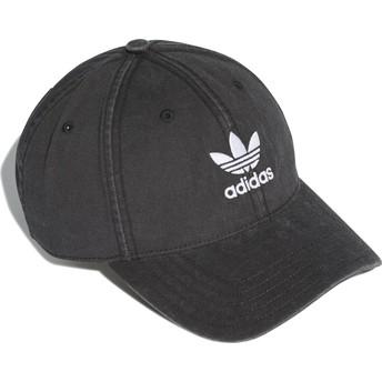Adidas Curved Brim Washed Adicolor Black Adjustable Cap