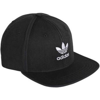 Adidas Flat Brim Trefoil Adicolor Black Snapback Cap