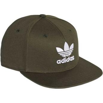 Adidas Flat Brim Trefoil Green Snapback Cap