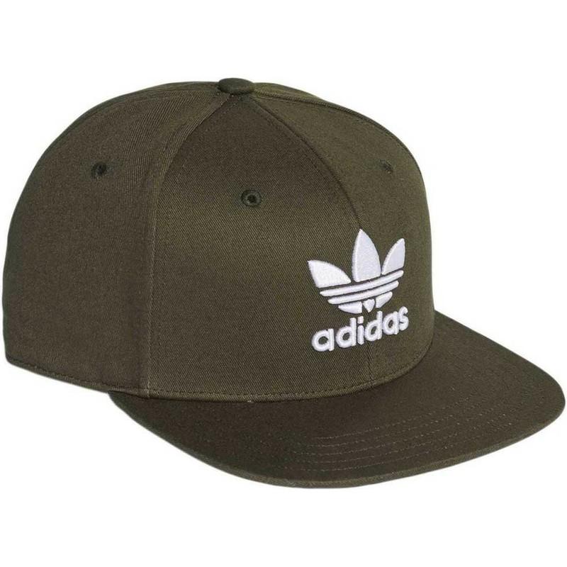 Adidas Flat Brim Trefoil Green Snapback Cap  Shop Online at Caphunters 04caf5fdacf