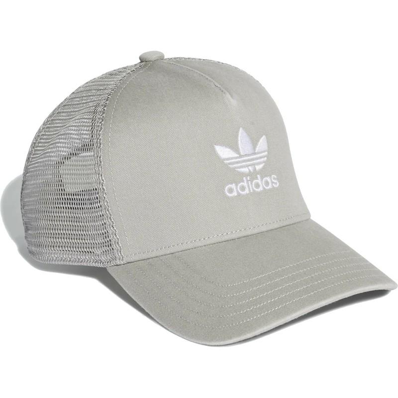 2f06de1808ed5 Adidas Trefoil Grey Trucker Hat  Shop Online at Caphunters