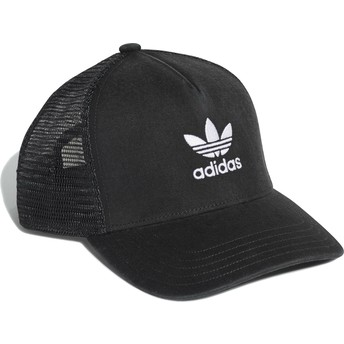 Adidas Trefoil Black Trucker Hat