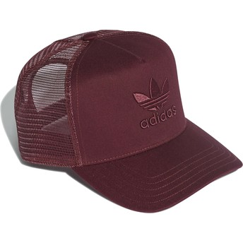 Adidas Red Logo Trefoil Red Trucker Hat