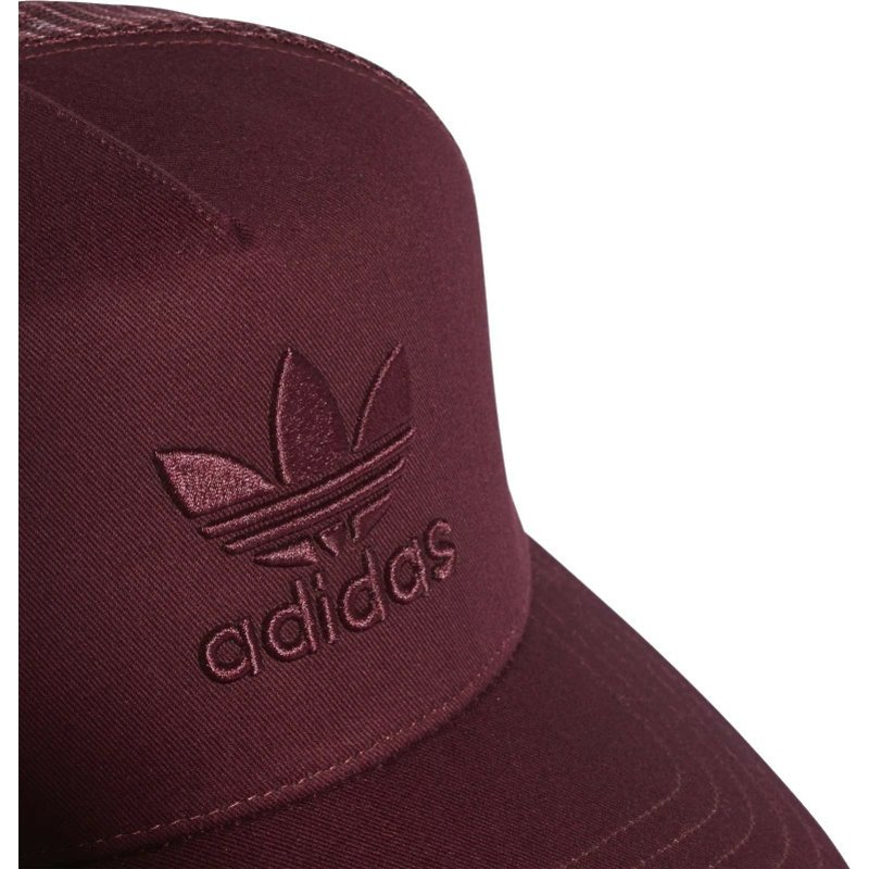 21859957443 Adidas Red Logo Trefoil Red Trucker Hat