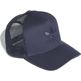 Adidas Navy Blue Logo Trefoil Navy Blue Trucker Hat