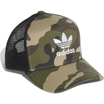 c22fa772a06 Adidas Trefoil CRV Camouflage Trucker Hat