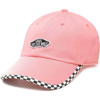 Vans Curved Brim Check It Pink Adjustable Cap