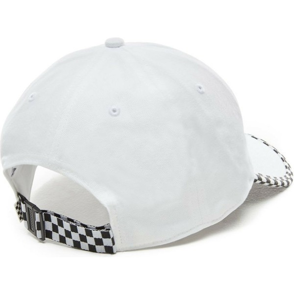 Vans Curved Brim Check It White Adjustable Cap  Shop Online at ... ae0f25c6fb7