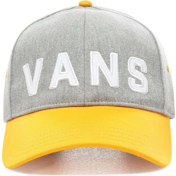 vans-curved-brim-dugout-grey-adjustable-cap-with-yellow-visor