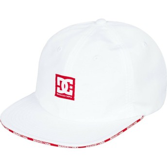 DC Shoes Flat Brim Sandwich White Adjustable Cap