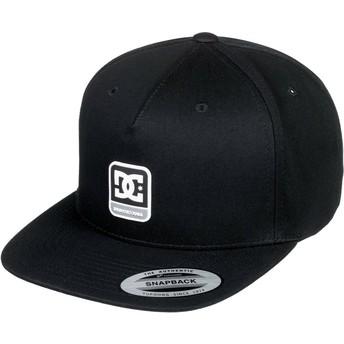 DC Shoes Flat Brim Snapdragger Black Snapback Cap