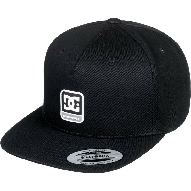 8ef4cba3693 DC Shoes Flat Brim Snapdragger Black Snapback Cap  Shop Online at ...
