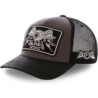 Von Dutch DAMAGED Grey Trucker Hat