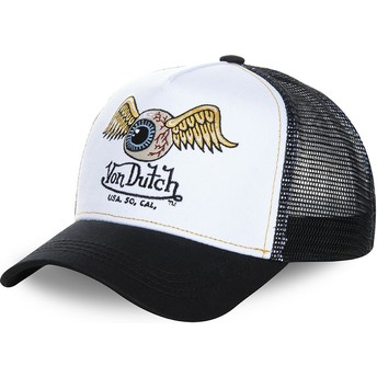 425daaa215925 Von Dutch WHI White and Black Trucker Hat