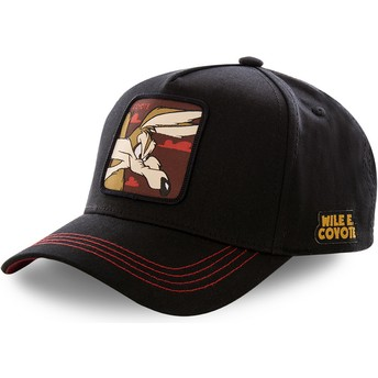Capslab Curved Brim Wile E. Coyote COY3 Looney Tunes Black Snapback Cap