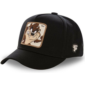 Capslab Curved Brim Tasmanian Devil TAZ5 Looney Tunes Black Snapback Cap
