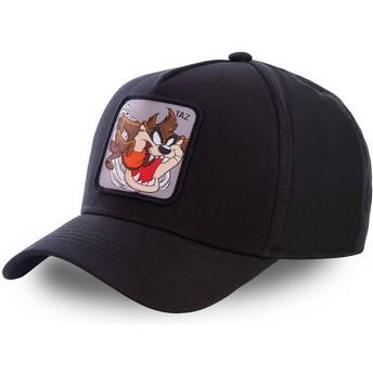 Capslab Curved Brim Tasmanian Devil TAZ6 Looney Tunes Black Snapback Cap