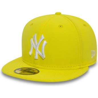 New Era Flat Brim 59FIFTY Essential New York Yankees MLB Yellow Fitted Cap