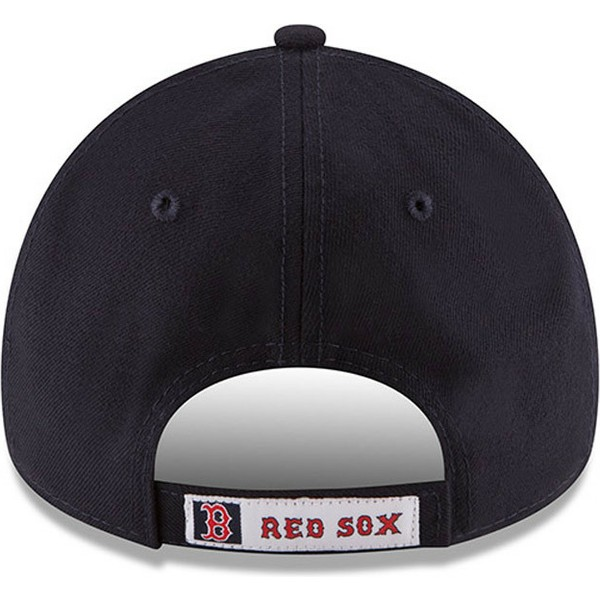 new-era-curved-brim-9forty-the-league-boston-red-sox-mlb-navy-blue-adjustable-cap
