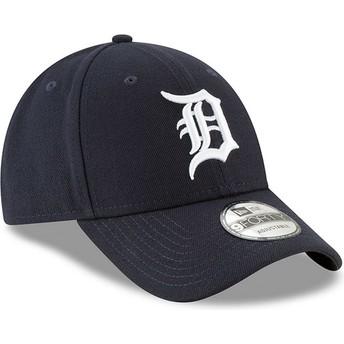 Gorra curva azul marino ajustable 9FORTY The League de Detroit Tigers MLB de New Era