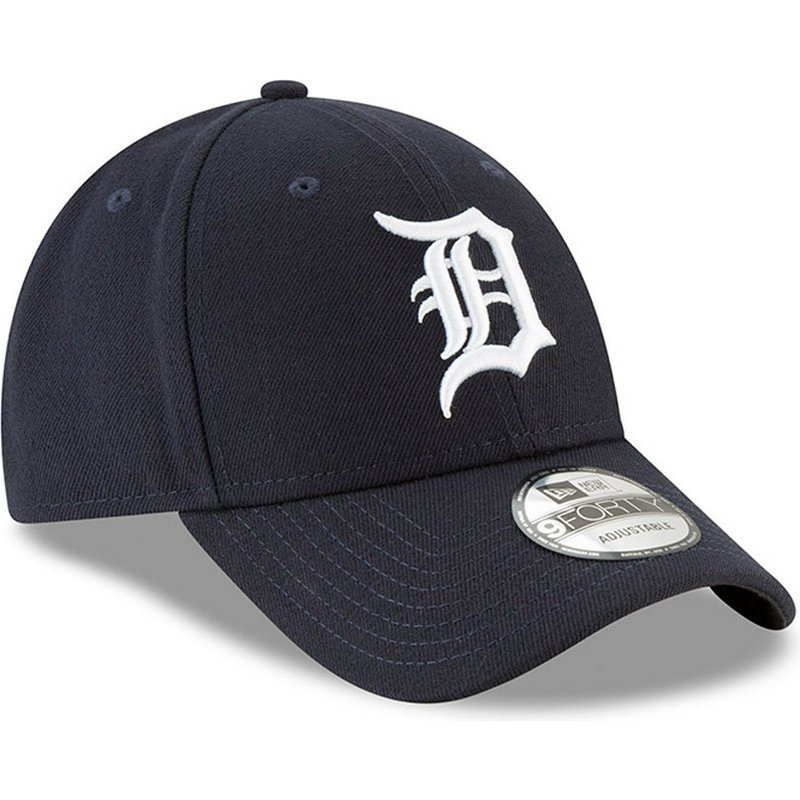 ace6e91aab0 New Era Curved Brim 9FORTY The League Detroit Tigers MLB Navy Blue ...