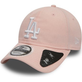 New Era Curved Brim 9TWENTY DryEra Packable Los Angeles Dodgers MLB Pink Adjustable Cap